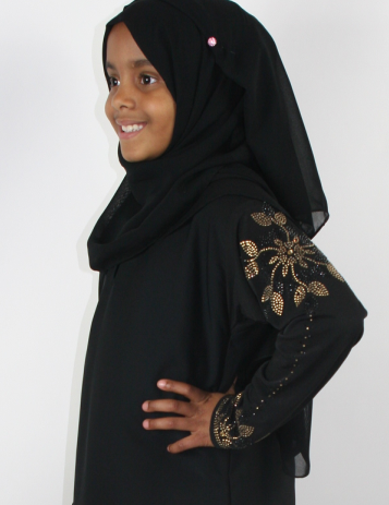 child's beaded abaya