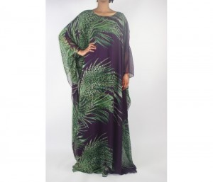 Green and Purple Everyday Kaftan